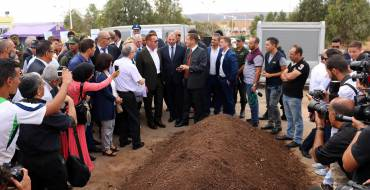 Arnold Schwarzenegger inaugurates zero waste campus in Oran Algeria and launches a scaling-up and replication phase with Minister of Environment and Prime Minister.