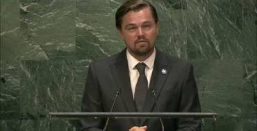 Leonardo DiCaprio, UN Messenger of Peace, refers to CCFLA and R20 at his speech during the 2016 International Day of Peace at UN headquarters