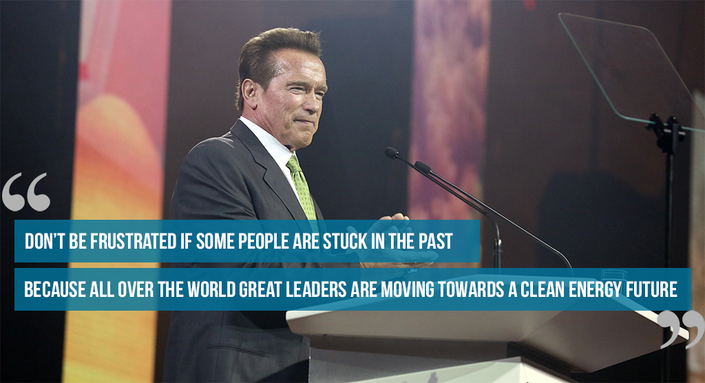 Schwarzenegger quote at R20 Austrian World Summit
