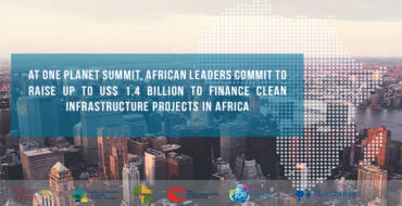 Up to USD 1.4 billion to finance clean infrastructure projects in Africa