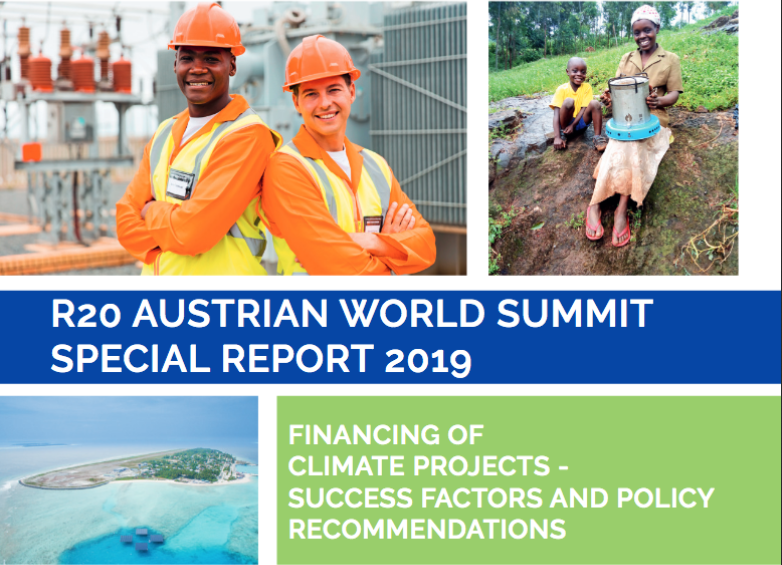 R20 Austrian World Summit Special Report 2019: Financing of Climate Projects